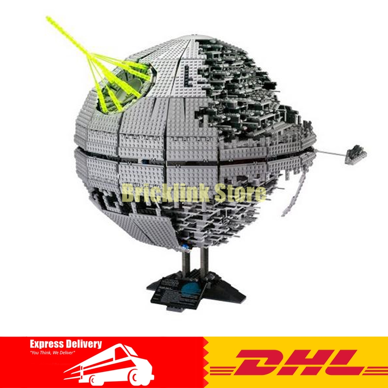 IN STOCK LEPIN 05026 3449Pcs Death Star II Model Building Kits Wars Blocks Bricks Compatible Children Toys Gift With 10143 in stock lepin 16002 2791pcs pirate ship metalbeard s sea cow model building kits blocks bricks compatible children toys 70810