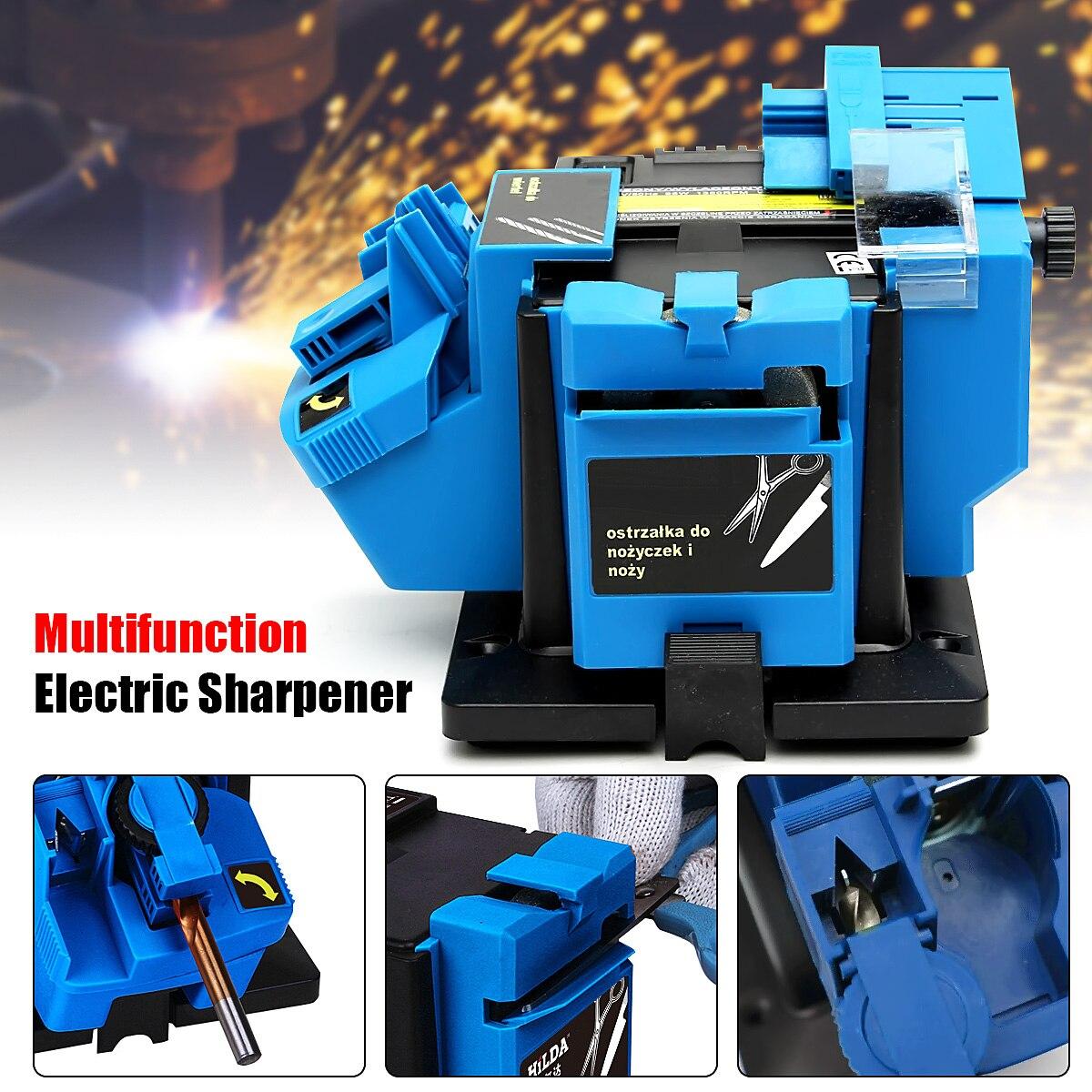 220V Multifunctional Sharpener Mini Electric Metal Grinder Grinding Tool Sharpener For Knives Scissors,planer Iron,drills
