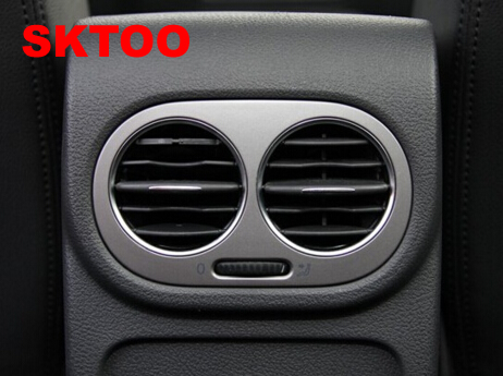 SKTOO Pentru 2010-15 Volkswagen Tiguan cotiera concept aer condiționat aerisire aerisire scaun spate ieșire aer condiționat Argint