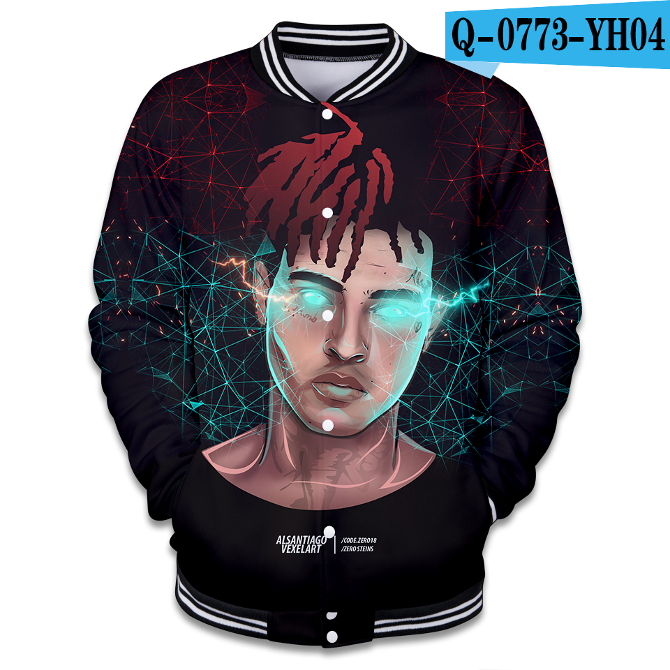 e0b3db06ecee US $17.98 20% OFF|Xxxtentacion 3D Baseball Jackets Men Winter Fleece  Sweatshirt Tracksuits Plus Size Rapper Xxxtentacion Coats Unisex Clothes-in  ...