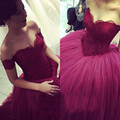 New Arrival Sweetheart Off Shoulder Sexy Backless Ball Gown Prom Dress Sexy Burgundy Long Evening Dress Elegant Party Gowns