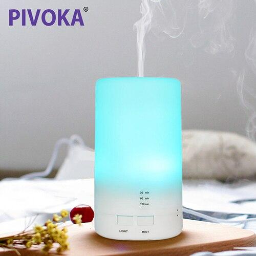 PIVOKA Electric Aroma Essential Oil Diffuser Ultrasonic Air Humidifier Grain Aromatherapy Essential Oil Cool Mist Humidifier