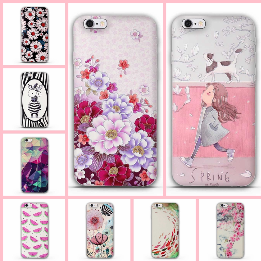 For iPhone 5 Case Cute TPU iphone 8 8 Plus case for iphone 5 5s case Silicon Soft Cover For iPhone 6 plus 7 7plus 8 8 Plus cover