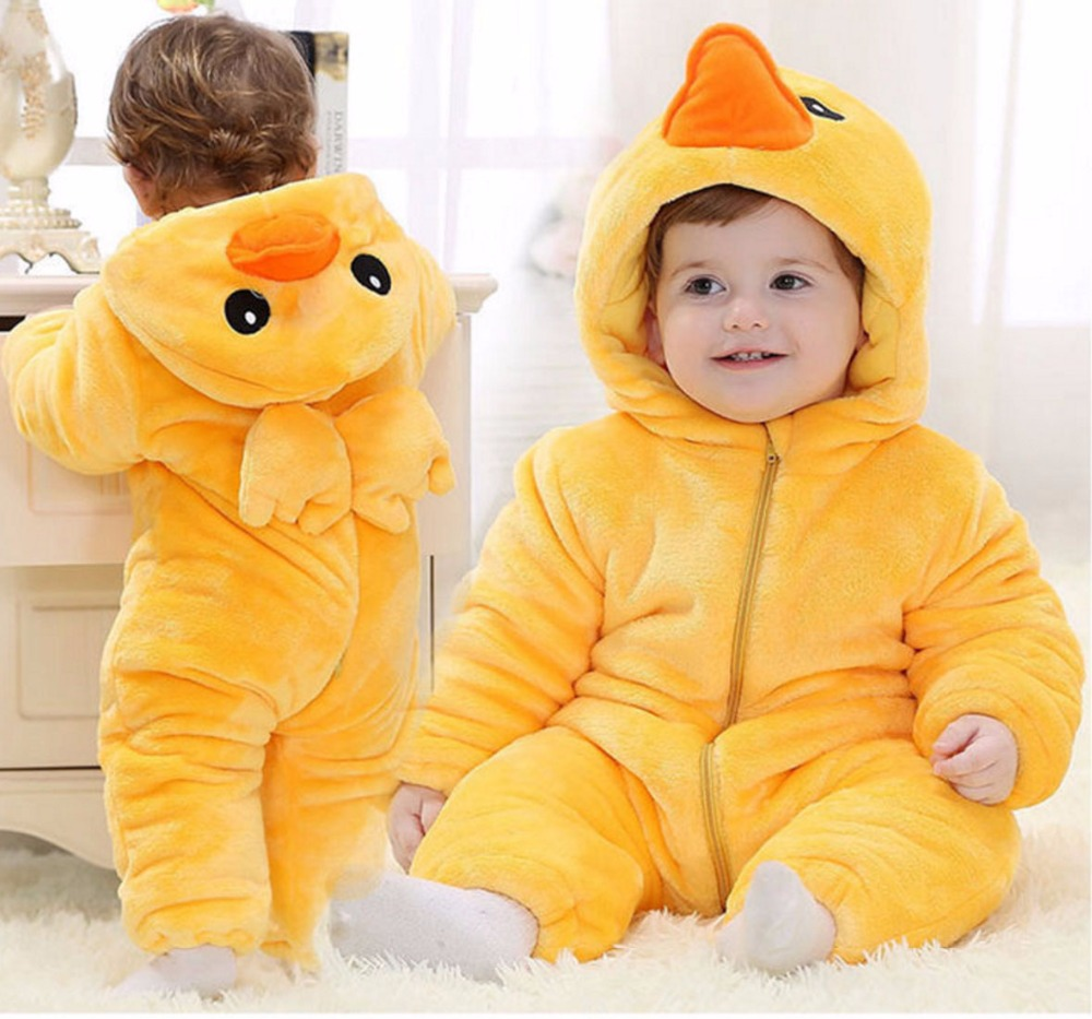 Autumn Winter Baby Rompers Flannel Newborn Boy Girl Cartoon Animal Jumpsuit Kids Long Sleeve Hooded Infant Clothing Baby Costume newborn baby rompers baby clothing 100% cotton infant jumpsuit ropa bebe long sleeve girl boys rompers costumes baby romper