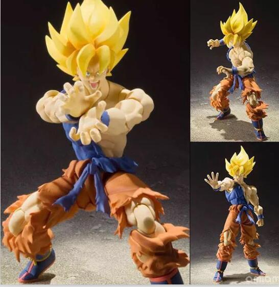 SH Figuarts Dragon Ball Z Goku Super Saiyan Chou Senshi Kakusei Ver Act different Scenes Action Figure Collection Model Toy цена 2017