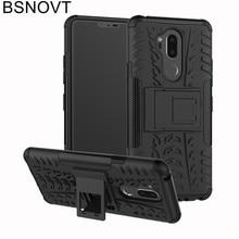 For LG G7 Case Plastic Bumper Phone Holder Shockproof Anti-knock 2018 Cover G710 6.1 BSNOVT