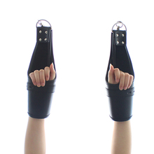 Leather Hanging Handcuffs Ankle Cuffs Restraint Suspension Buckled Wrist Bdsm Bondage Costume Adult Sex Toys For Couples