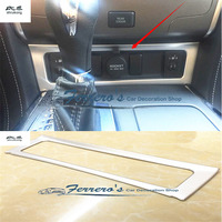 Free shipping 1pc ABS Chrome Cigarette lighter switch decoration cover Trims For Nissan Armada Patrol Royale Nismo Y62 2016 2018