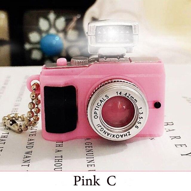 Светодиодная камера мигающая игрушка для детей цифровой брелок с камерой светящийся звук вспышка светильник Подвеска сумка Аксессуары Детская игрушка - Цвет: Pink C