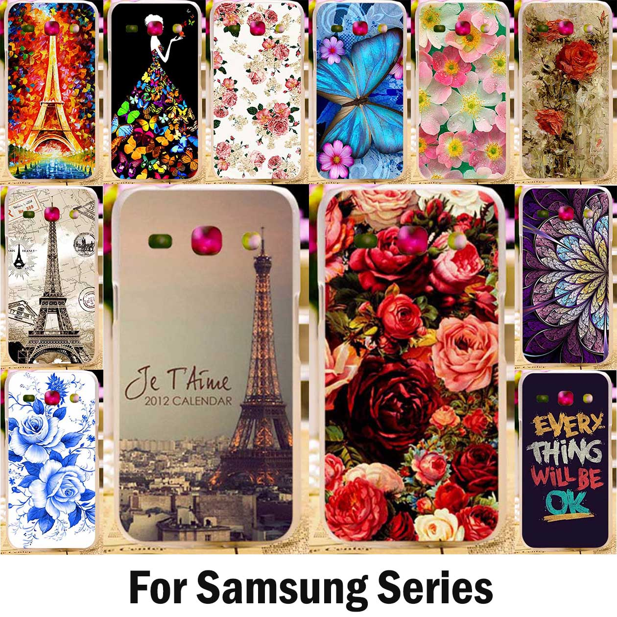 TAOYUNXI Cover Case For Samsung Galaxy G350E A6 Plus 2018 J3 Pro 2017 J5 J7 2016 Note3 4 5 S2 S3 S4 S5 Mini S6 edge Plus S7 Case