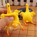 5pcs/lot  Creative toy spoof egg funny vent chicken Keychain decompression tricky funny toys children's gag toys