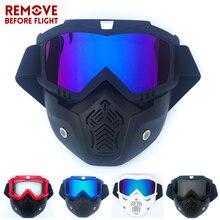 Motorcycle Helmet Mask Goggles Windproof Motocross Helmets Mask Ski Goggles Dirt Bike Skateboarding Moto Protector Eyes Glasses