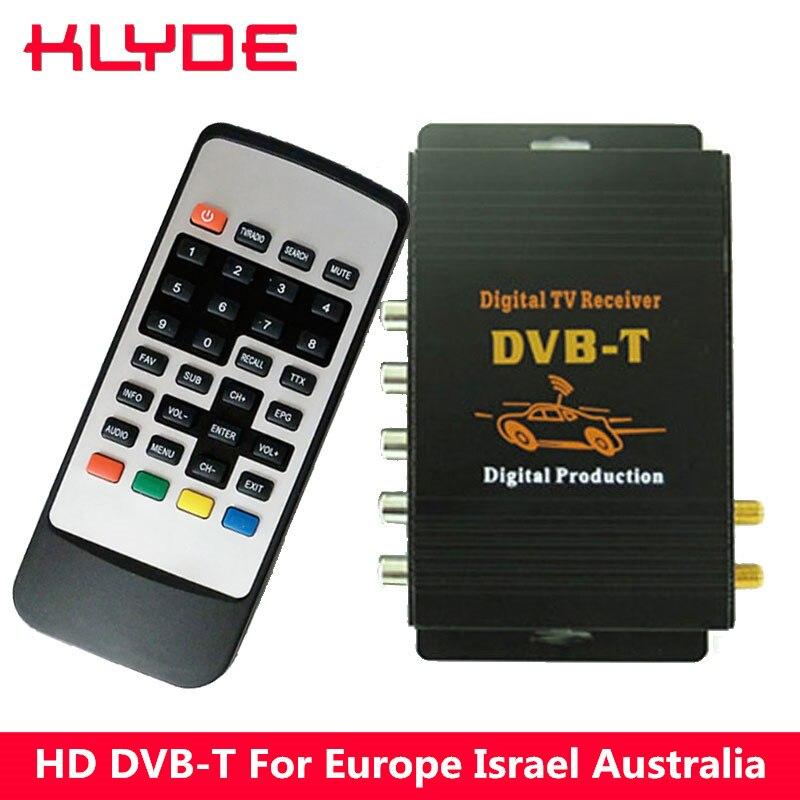 KLYDE HD DVB-T MPEG-4 Double Tuner TV Numérique Récepteur Box Pour L'europe Israël Iran Australie Support 140-190 km/h vitesse de travail