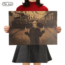 TIE LER Vintage Poster Geeky Guy Plot Adornment Movie Posters 51x35.5CM Kraft Paper Home Decor Wall Sticker(China)