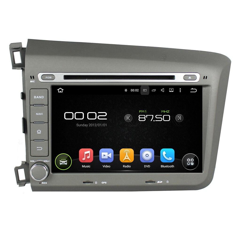 OTOJETA Android 8.0 voiture DVD lecteur octa core 4 gb RAM 32 gb ROM pour honda CIVIC 2012 + bande enregistreur headunit stéréo dvr caméra FM