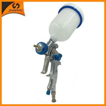 цена на SAT1215 gravity feeding spray gun hvlp airbrush painting air spray paint gun for cars action dual action airbrush air sprayer
