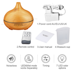Image 5 - 550ml Ultrasonic  Air Humidifier Aroma Essential Oil Diffuser  Aromatherapy Electric household atomizer with Remote  Control