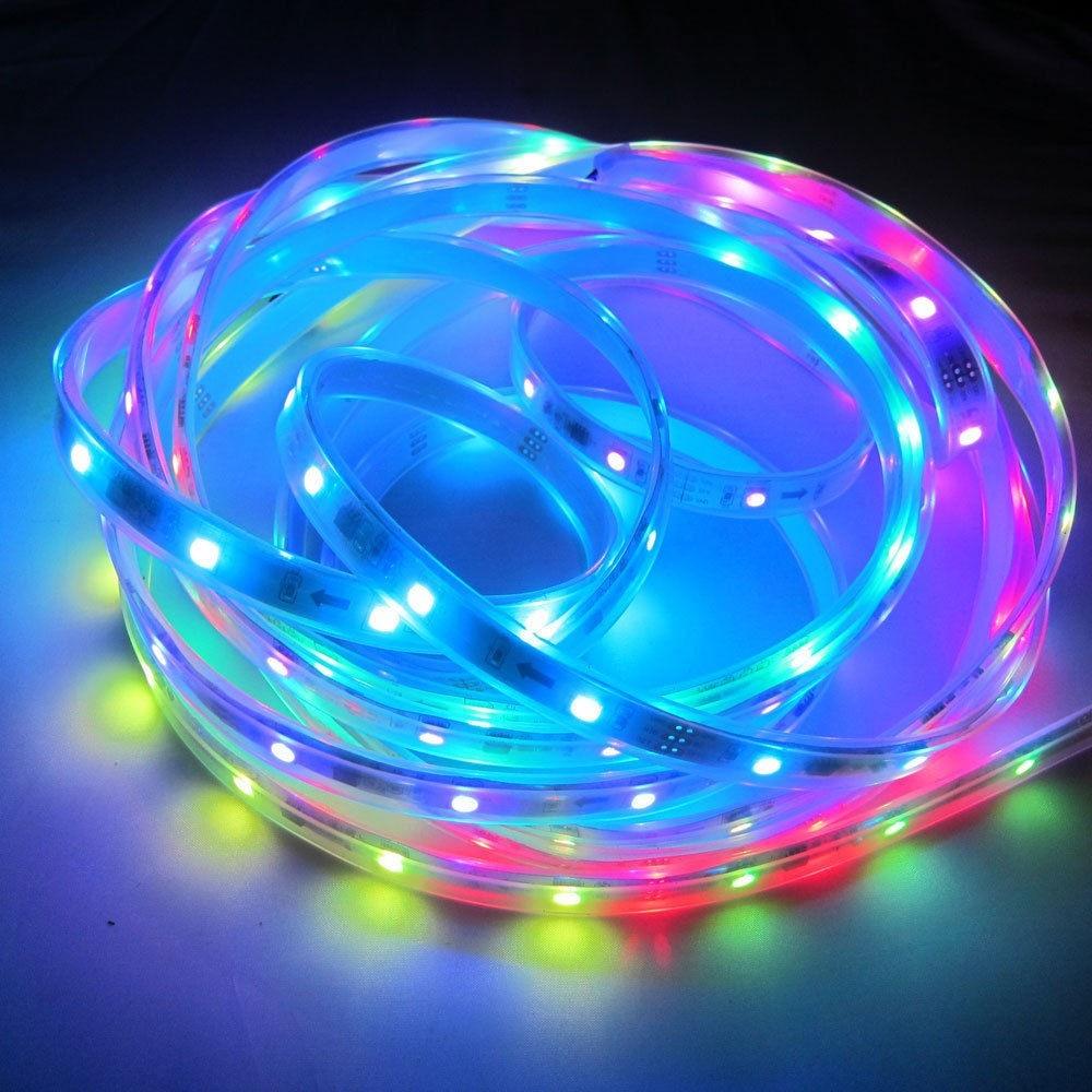50CM/1M/5M Waterproof 5050 RGB LED Strip Light 30/60/144 Led/m 5v 12v Ws2811 Ws2812 Ws2812b Dream Color Led Stripe Tape