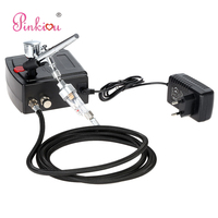 0.3mm Dual Action Airbrush With Compressor Air brush Makeup Face Paint Kit Aerografo Cake Coloring Tool Temporary Tattoo Device