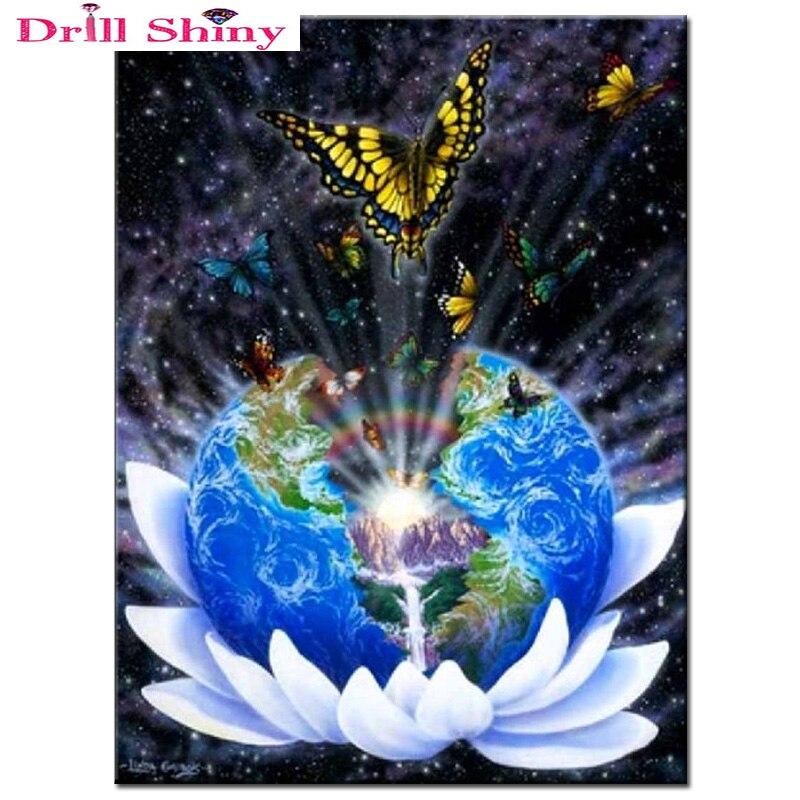 3D diy diamantová malba křížovým stehem 5D diamantová výšivka Van Gogh hvězdná obloha vesmír kolo plné sady diamantová mozaika