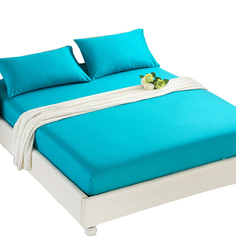 Spring Summer Thin Bedspread 100%Polyester Bedding Cover Mattress Protector Solid Color Home Hotel Coverlet or 2pc Pillowcases