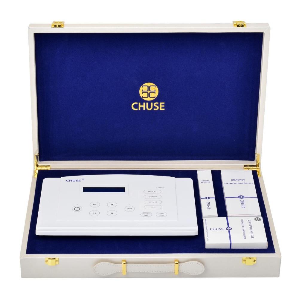 CHUSE Набор татуировок C5 Pro для бровей, подводки для губ, бровей, ротационный набор перманентных цифровых макияжей со швейцарским мотором