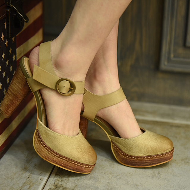 39fea3da8 Artmu 2016 Women Shoes High-heel Full Grain Leather Sandals Comfortable All-match  Thick