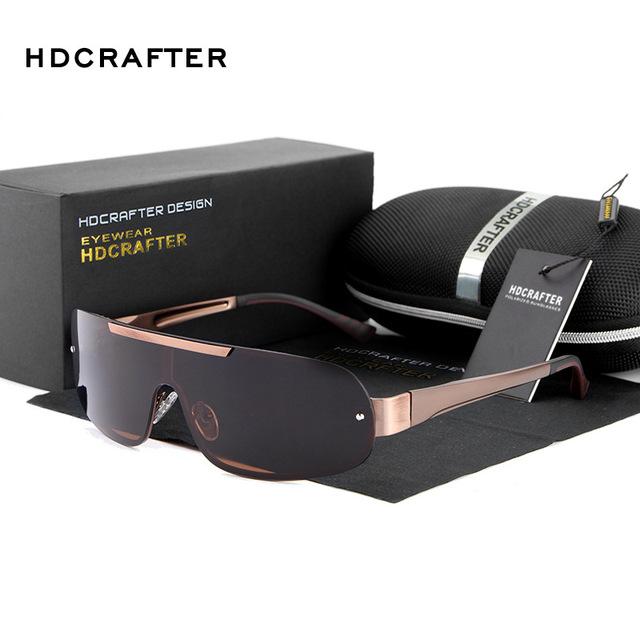 Novo 2016 HDCRAFTER Moda Car Driving Pesca Polarizados Esportes Óculos de Proteção Piloto Do Vintage Óculos De Sol Homem Grife E010