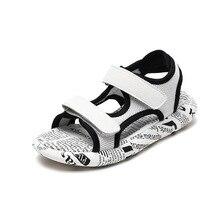 Children's sandals men 2019 summer new big children's shoes baby non-slip soft bottom boys beach shoes