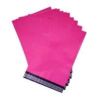 폴리 우편물 핑크 컬러 메일 링 봉투 로즈 레드