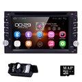 2 Din Android 5.1 Автомобиль DVD GPS Универсальный Стерео Радио Плеер 6.2 ''Quad ядро 16 ГБ Сенсорный двойной 2din С 3 Г WI-FI BT рулевое колеса