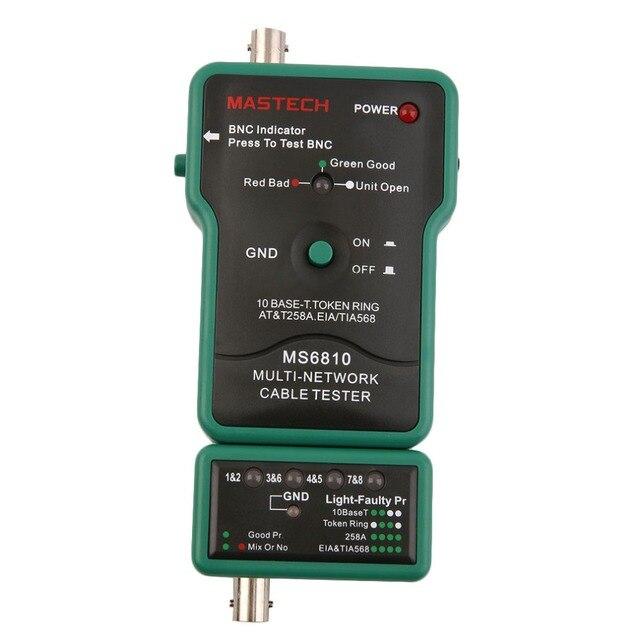 Горячая Коаксиальный Кабель BNC Сетевого Провода Линии Тестер Детектор Tracker MASTECH MS6810 Новый