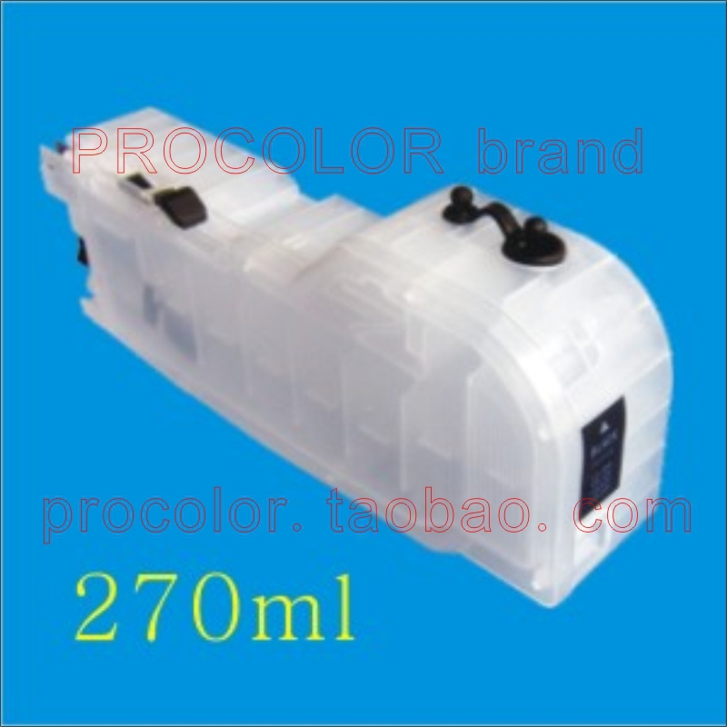 PROCOLOR New long Big volume 270ml refill inkjet cartridge LC-539XL BK/LC-535XL C/M/Y for BROTHER DCP-J100/DCP-J105/MFC-J200...