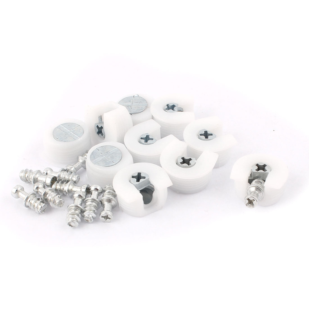 uxcell 10pcs U Shape Plastic Screw in Shelf Support Pin Peg Supporter White for glass shelf Hot Sale