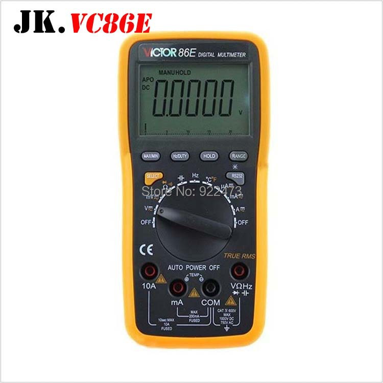 P165 VICTOR VC86E High Precision Frequency Capacitance Temperature with USB Universal Meter Digital Multimeter