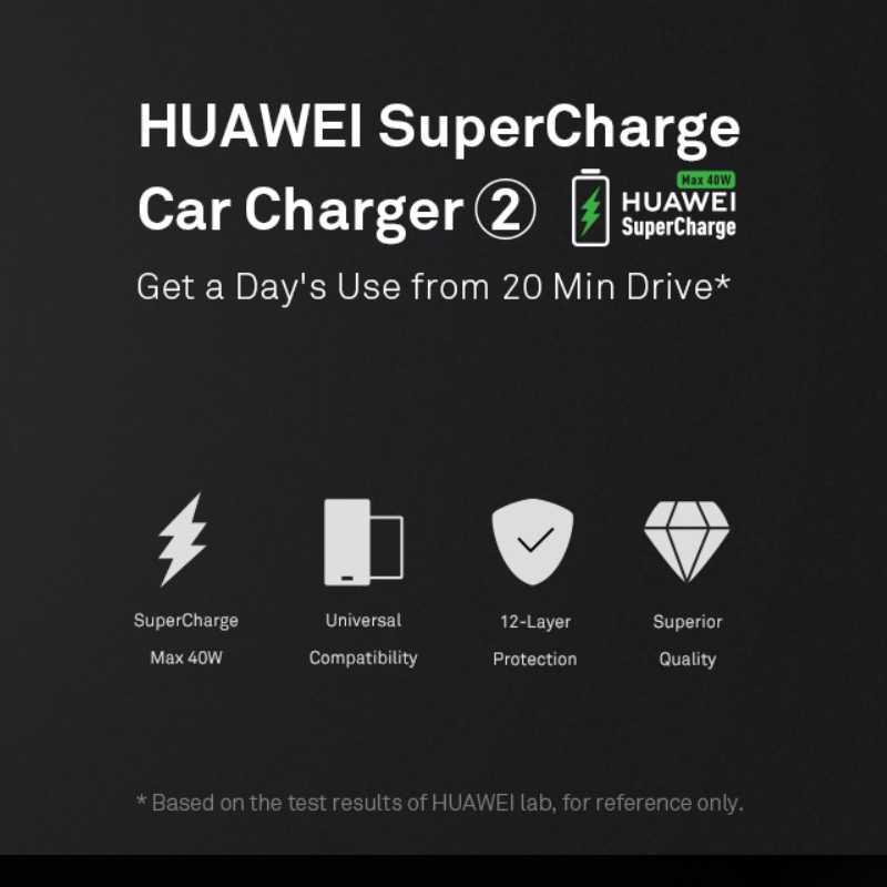 HUAWEI Original de CP37 sobrecargar cargador de coche de 2 40 W máx. 10 V 4A Dual USB 5A tipo C Cable incluido