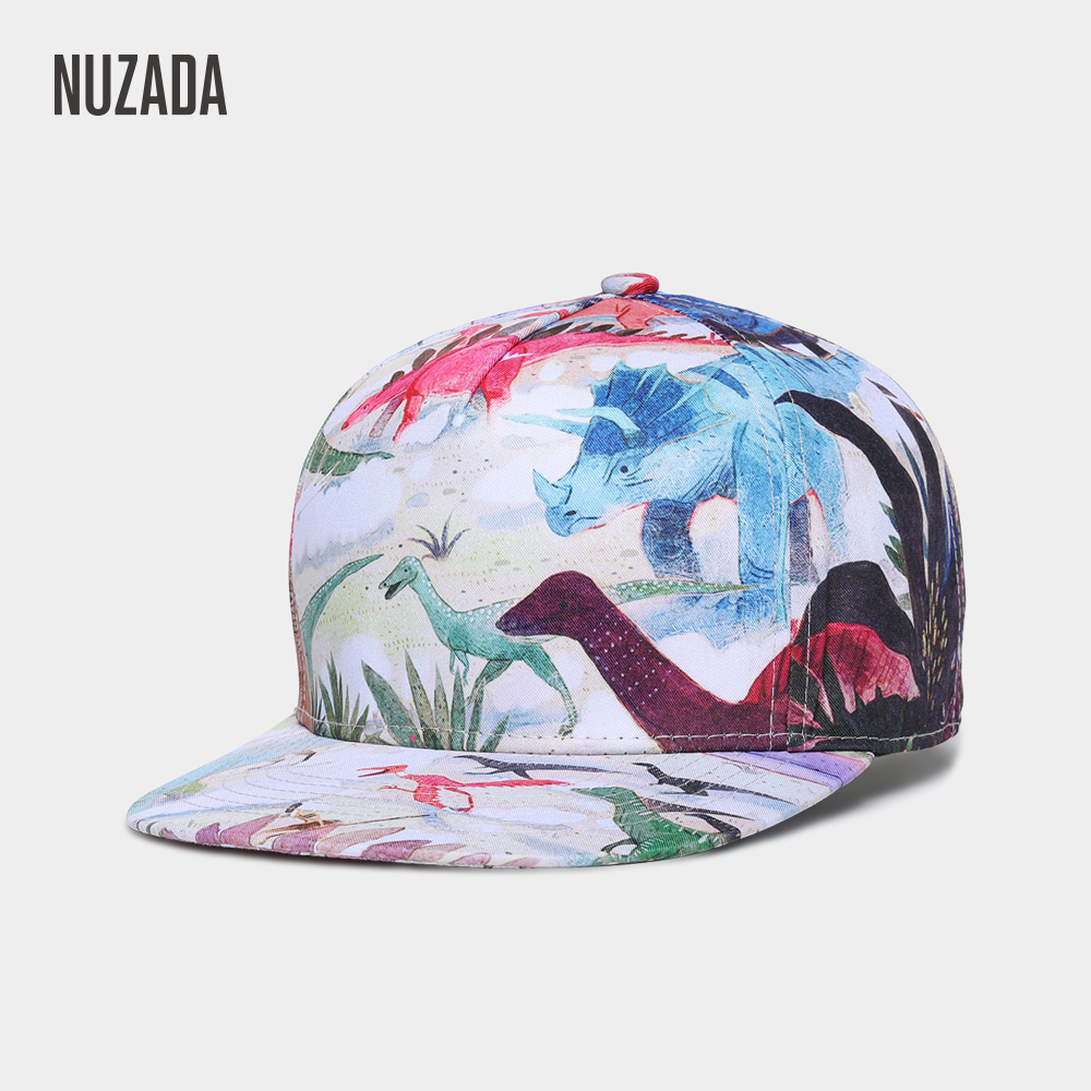 NUZADA Original 3D High-Refinition Transfer Printing Men Women   Baseball     Cap   Bone Spring Summer Cotton   Caps   Hats Snapback