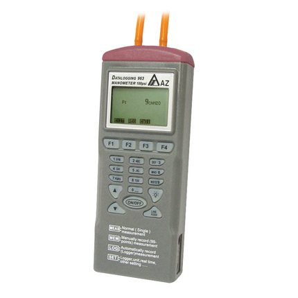 AZ9635 цифровой дифференциальный Давление регистратор тестер метр Манометр с программным обеспечением 11 единицы измерения