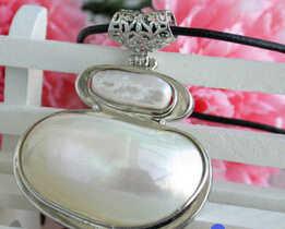 SHUPPING gratis> @> N1618 colgante grande de perlas keshi 48mm N1618