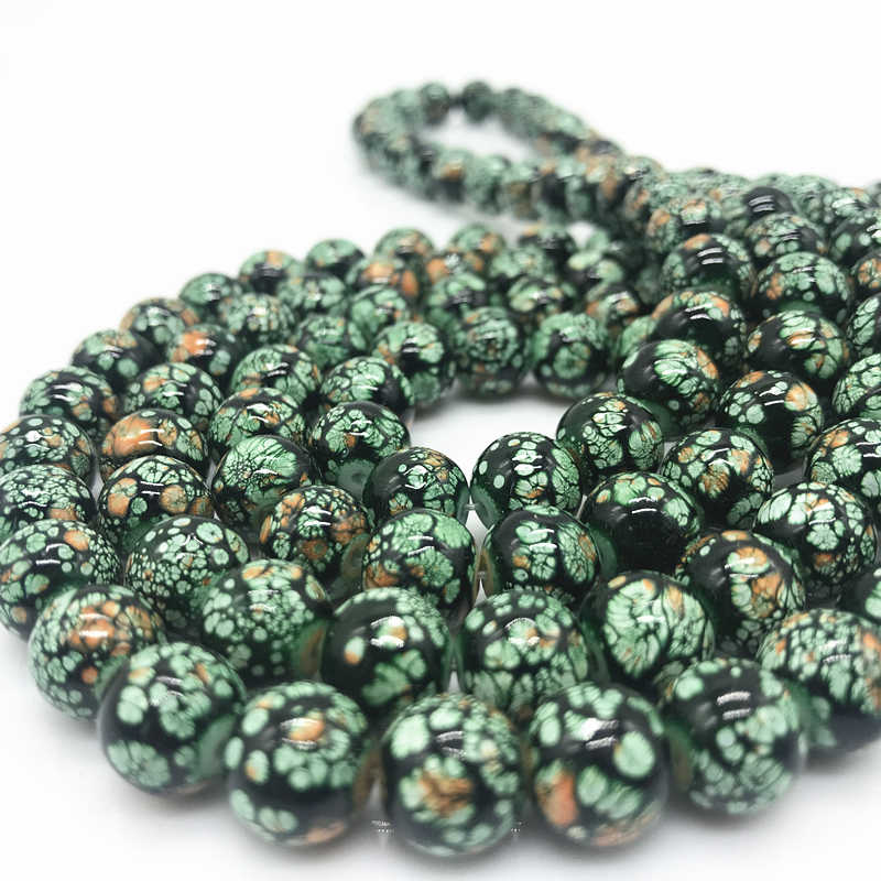 Wholesale 6 8 10 mm Glass Loose Spacer Charm Beads Pattern Making Bracelet Necklace Jewelry #02