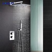 AODEYI Насадки для душа 304 Нержавеющаясталь площадь 8 или 10 или 12 или 16 Дождь душ Термостатический смеситель для душа клапан набор