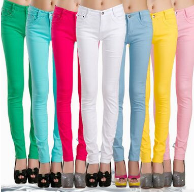 Spring & Autumn Pencil   Pants   For Women Skinny Femme Trousers Candy Color Solid Slim Female   Pants   Plus Size   Capris