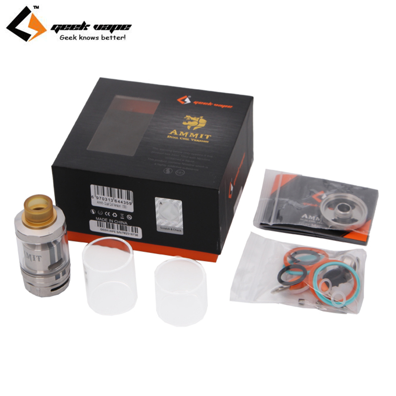 где купить Original Geekvape Ammit Dual Coil RTA Tank 3ml/6ml Electronic Cigarette Atomizer Support Both Dual and Single Coil Ammit tank по лучшей цене