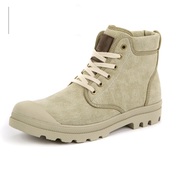 Nice Great 2221 Men Autumn Winter High Top Canvas Boots Classic Style Army Boots With Plush Fashion Durable Denim Boots