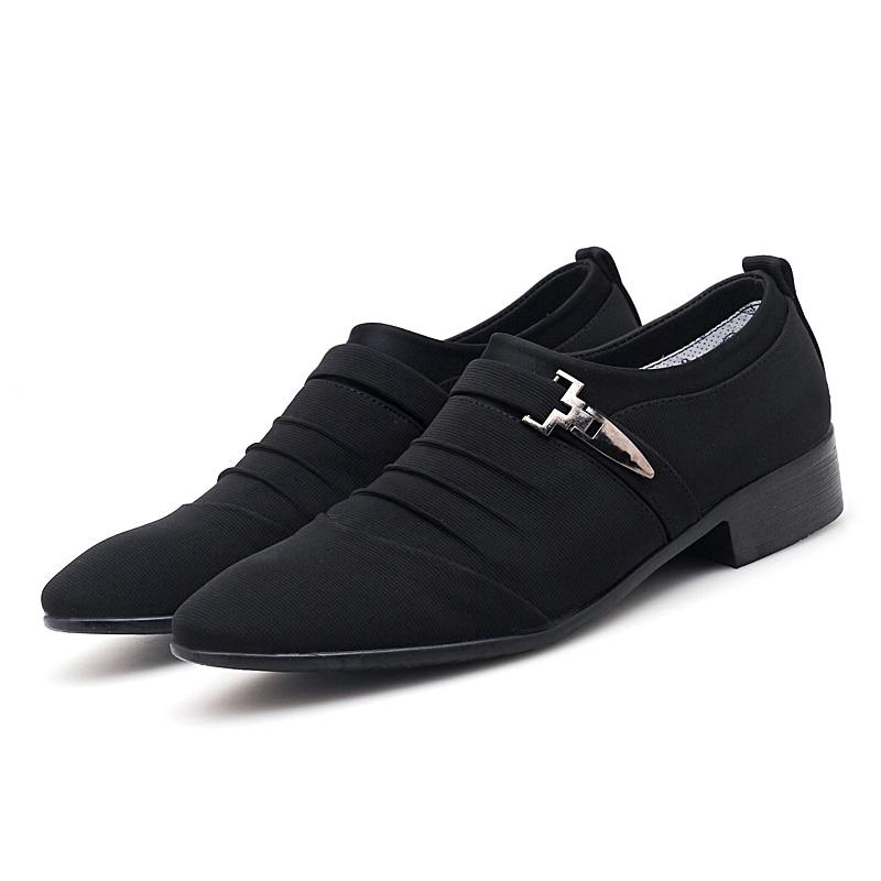 Black canvas oxfords shoes