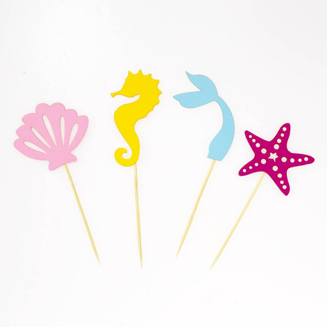 Mermaid Theme Cupcake Toppers Decorations Idea For A Little Mermaid