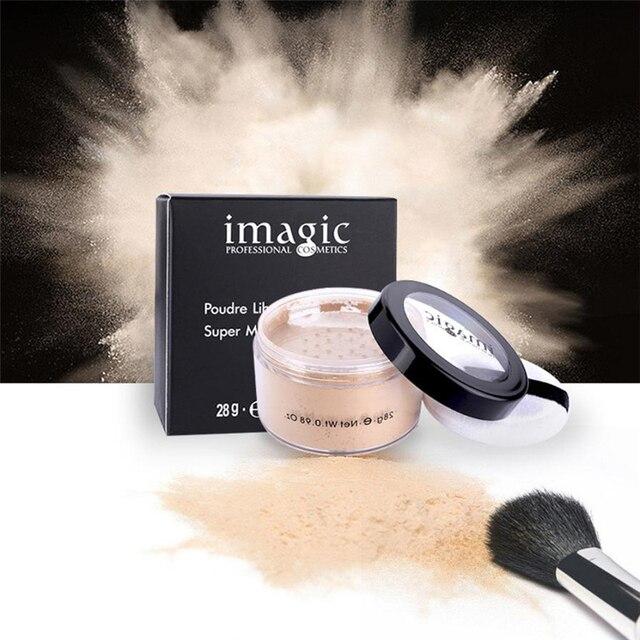 IMAGIC 28g supermatowy luźne do makijażu puder sypki do twarzy proszku wykończeniowego przezroczyste gładka ustawienie proszku maquillaje po compactos