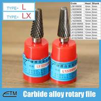 1 Piece Tungsten Carbide Alloy Rotary File Milling Cutter Drill Bit For Carving Sculpture Type L