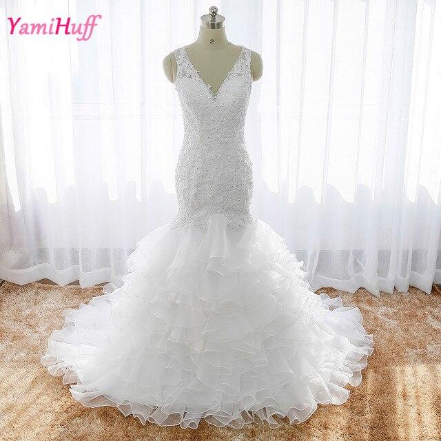 Einzigartiges Design Weiß Braut Brautkleider Spitze Meerjungfrau ...