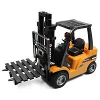 Дистанционное управление Р/У грузовики 2 в 1 RC погрузчик автокран RTR 2.4 ГГц 8ch 360 градусов вращения Авто демонстрация свет RC Игрушечные лошадки